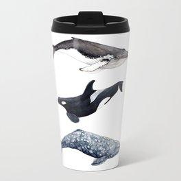 Orca, humpback and grey whales Travel Mug