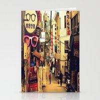 seoul Stationery Cards featuring Seoul #1 by MysticJin