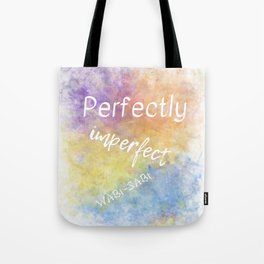 Perfectly Imperfect - Wabi-Sabi (white, blue, orange, yellow, purple) Tote Bag