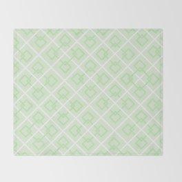 Zesty Green Interlock Cross Pattern Throw Blanket