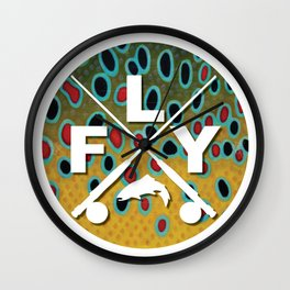 Brown Trout Fly Fishing  Wall Clock