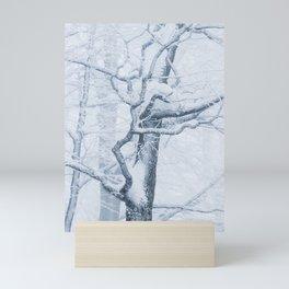 Frozen snowy tree Mini Art Print