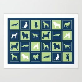 Dogs Squared Art Print