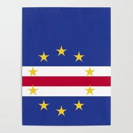Cape Verde flag emblem Poster