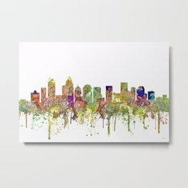Charlotte, North Carolina Skyline SG - Faded Glory Metal Print