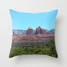 Sedona Red Rocks Throw Pillow