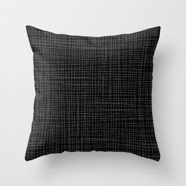 Black and White Grid - Disorderly Order Throw Pillow
