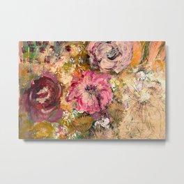 Romantic expressionistic flowers Metal Print