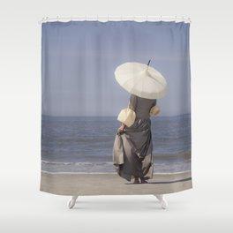 White Parasol II Shower Curtain