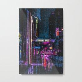 Midnight at Tiffany Metal Print