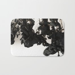 Ink #abstract #black Bath Mat