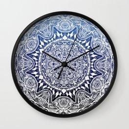 Blue Gradient Mandala Wall Clock