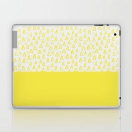 Triangles yellow Laptop & iPad Skin