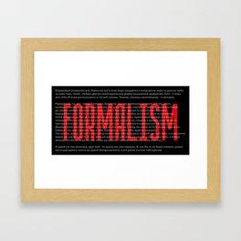 Formalism Framed Art Print
