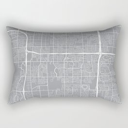 Tempe Map, Arizona USA - Pewter Rectangular Pillow