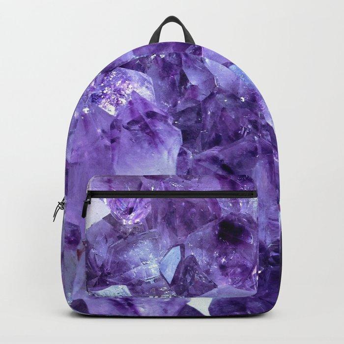 Amethyst Crystals Backpack