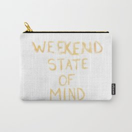 Weekend State of Mind - Orange Carry-All Pouch