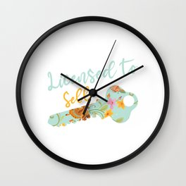 Licensed To Sell Real Estate Realty Realtor Agent Property Building Land Key House T-shirt Design Wall Clock