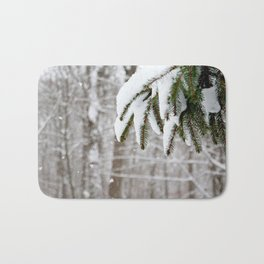 Snowy Tree Bath Mat