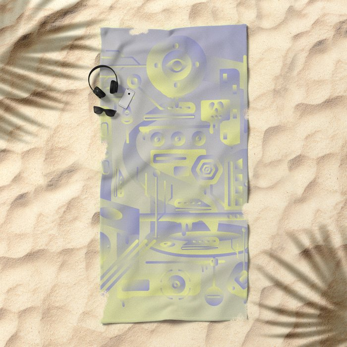 Geometromorphic Future Beach Towel