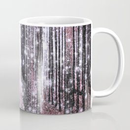 Magical Forest Pink Gray Elegance Coffee Mug