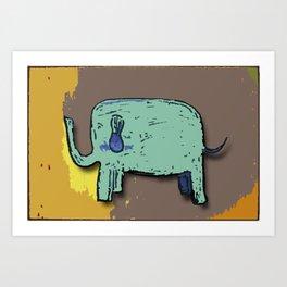 Elephant Print Art Print
