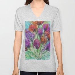 Floral 1 Unisex V-Neck