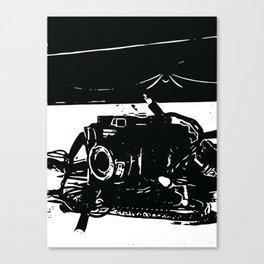 Camera mantel Canvas Print