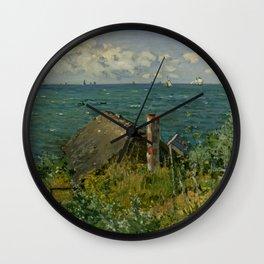 "Claude Monet ""La Cabane de Saint-Adresse"" Wall Clock"
