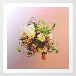 Cubic Bouquet Art Print