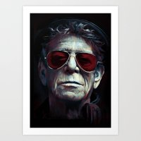 lou reed Art Prints featuring Lou Reed by turksworks