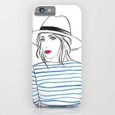 Stripes & Red Lips Slim Case iPhone 6