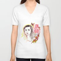 allison argent V-neck T-shirts featuring Queen Argent by Grit Spit and a Whole Lot of Duct tape