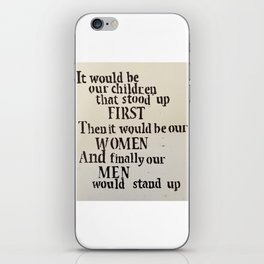 It Would Be Our Children iPhone Skin