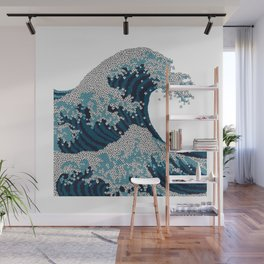 The great wave of football Wall Mural