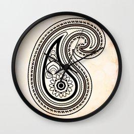 Paisley henna Wall Clock