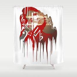 """Dark Paradise LDR Drip"" Shower Curtain"