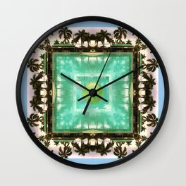across the universe: palm isles mandala Wall Clock