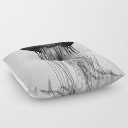 Jellyfish Black and White Floor Pillow