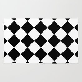Diamond Black & White Rug