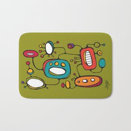 Scribbles 02 in Color Bath Mat