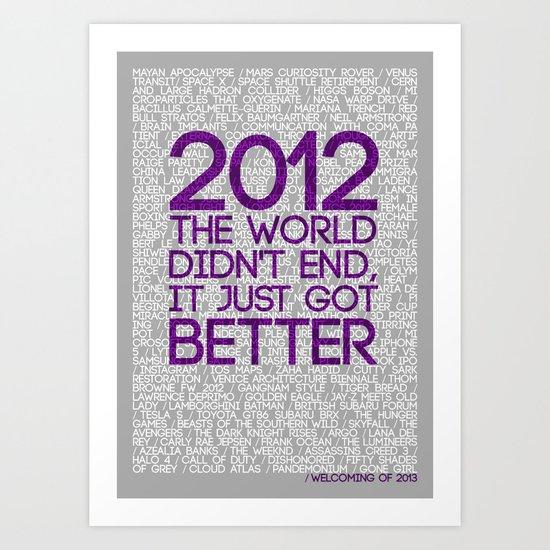 2012...It Was Emotional Art Print