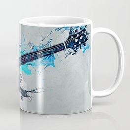 Blue Electric Guitar Coffee Mug