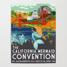 Poster Art ·•· California Mermaid Convention Poster