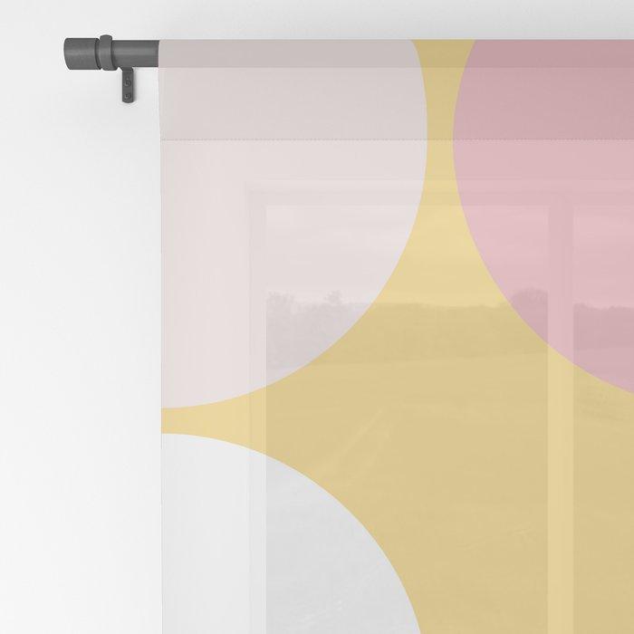 Mid Century Modern Moon & Sun Pattern 2 Sheer Curtain