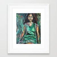 jasmine Framed Art Prints featuring Jasmine by Juliette Caron