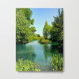 Aqua Lake Metal Print