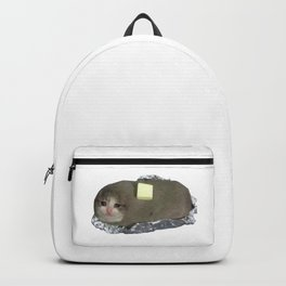 Crying Cat Baked Potato With Butter Backpack