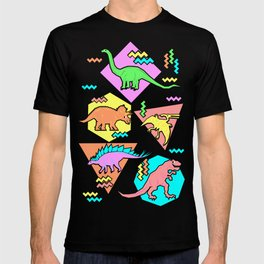 Nineties Dinosaur Pattern T-shirt
