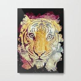 Tiger painting art poster Metal Print